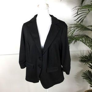 Torrid Black Blazer Jacket Womens Size Large Flaw